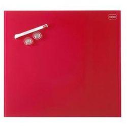 Tablica suchoś. -magn. NOBO Diamond, 45x45cm, szklana, czerwona