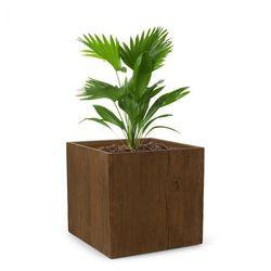 timberflor doniczka na rośliny 55x50x55 cm włókno szklane do wewnątrz/na zewnątrz brązowy marki Blumfeldt