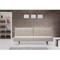 Sofa z funkcja spania jasnobezowa - kanapa rozkladana - wersalka - DUBLIN, Beliani z Beliani