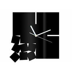 Zegar z pleksi na ścianę Kwadratowy z białymi wskazówkami