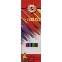 Kredki bezdrzewne 6 kolorów Progresso, 8755
