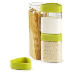 Zestaw trzech pojemników kuchennych z miarką (zielone) bez opakowania Tricon Umbra