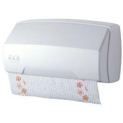 Pojemnik na ręczniki papierowe w rolce i ręczniki składane biały marki Ekaplast