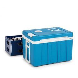 Klarstein BeerPacker lodówka turystyczna chłodzenie/grzanie 50 l A+++ AC/DC trolley niebieska (4