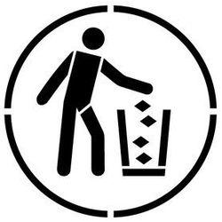 Szablon do malowania Znak Nakaz używania pojemnika na śmieci GO030 - 15x15 cm