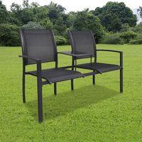 Vidaxl  metalowe krzesła ogrodowe z mini stolikiem