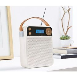 Radio kompaktowe, białe