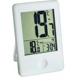 Termometr TFA 30-3051-02, z zegarkiem, biała