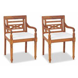 Elior Zestaw drewnianych krzeseł ogrodowych - kselia 2x