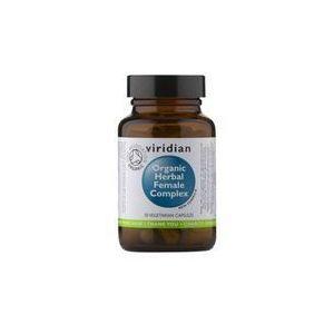 Ekologiczny kompleks ziół dla kobiet Organic herbal famale complex 30 kapsułek Viridian (5060003599357)