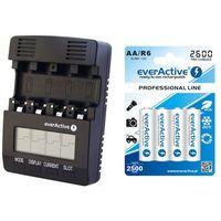 ładowarka everActive NC-3000 + 4 x R6/AA everActive 2600 z kategorii Ładowarki do akumulatorów
