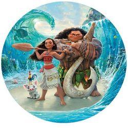 Dekoracyjny opłatek tortowy vaiana skarb oceanu - 20 cm marki Smakop