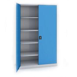 Szafa biurowa 1950 x 1200 x 600 mm, do montażu szaro-niebieska
