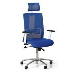 Krzesło biurowe Essen White, niebieskie