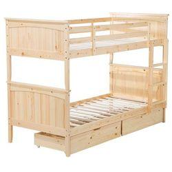 Beliani Łóżko piętrowe drewniane jasnobrązowe 90 x 200 cm radon (4260586356779)