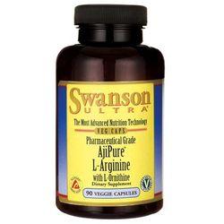 Swanson AjiPure L-Arginina + L-Ornityna 90 kaps. (aminokwasy)