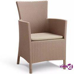 """Allibert krzesło ogrodowe """"iowa"""" cappuccino 215519"""