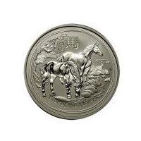 1/2 uncji Australijska Seria Księżycowa Rok Konia 2014 - Srebrna Moneta
