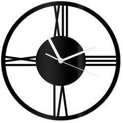 Zegar z pleksi na ścianę Rzymskie cyfry z białymi wskazówkami