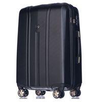 Puccini Średnia walizka  pc018 toronto czarna - czarny