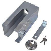 vidaXL Blokada zaczepu antykradzieżowa z kłódką 110 x mm - produkt z kategorii- Blokady i alarmy motocyklo