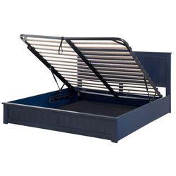 Łóżko z pojemnikiem 180 x 200 cm ciemnoniebieskie TARBES