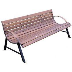 Retro ławka do ogrodu wagris 200 cm - orzech marki Producent: elior