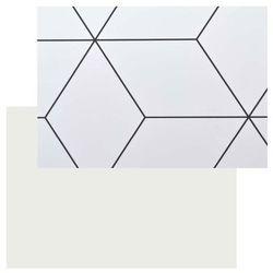 Panel przyblatowy laminowany Kasei 0,3 x 60 x 180 cm geometryczny / biały (3663602636311)