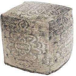 Vintage kwadratowy puf beżowy 45 x 45 x 45cm - kanpur marki Qazqa
