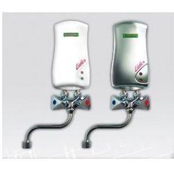 ELEKTROMET LIDER Umywalkowy przepływowy ogrzewacz wody z baterią L-210mm 4kW, bezciśnieniowy, biały 251-21-401, kup u jednego z partnerów