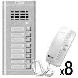 Genway Zestaw domofonowy 8-rodzinny WL-02NE-8 WL-02NE-8 - zestaw - Rabaty za ilości. Szybka wysyłka. Profesjonalna pomoc techniczna., WL-02NE-8 - zestaw