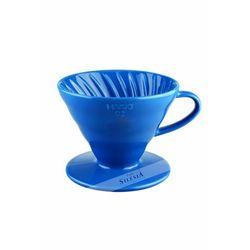 Ceramiczny dripper v60-02 turkusowy + 40 szt. filtrów marki Hario