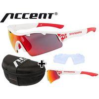 610-40-622_ACC Okulary Accent STINGRAY białe, soczewki: szare z czarno-czerwonym lustrem, przezroczyste