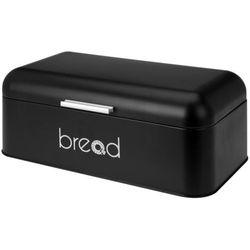 Metalowy chlebak, pojemnik na pieczywo - kolor czarny