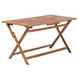 Stół ogrodowy drewniany 140 x 75 cm CENTO (4260586353365)
