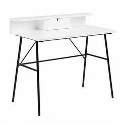 Drewniane biurko Aleno - białe