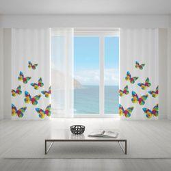 Zasłona okienna na wymiar - CRYSTAL BUTTERFLIES II