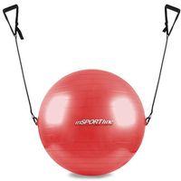 Piłka gimnastyczna z linkami 55cm  - czerwony marki Insportline