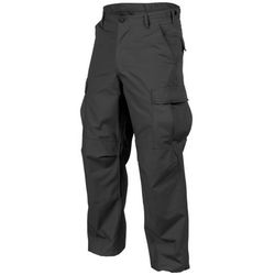 spodnie Helikon BDU Cotton Ripstop czarne LONG (SP-BDU-PR-01), czarny w 5 rozmiarach