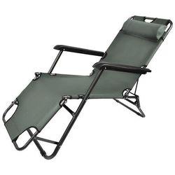 Iso Leżak ogrodowy krzesło ogrodowe fotel szary (5902367978198)
