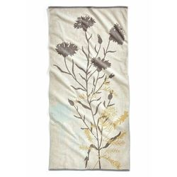Ręcznik w roślinne motywy bonprix kremowy