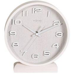Zegar stojący Nextime Wood Wood Small white, kolor biały