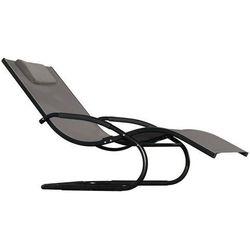 Leżak hamakowy, czarno-szary wavel1 marki La siesta