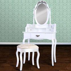Elegancka toaletka kosmetyczna+taboret03 marki Jago