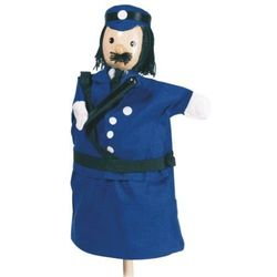 Pacynka na dłoń dla dzieci do teatrzyku - Policjant z kategorii pacynki i kukiełki