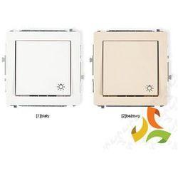 Wyłącznik zwierny światło KARLIK DECO biały, beżowy ze sklepu MEZOKO.COM