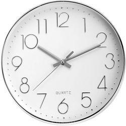 Emako Okrągły zegar ścienny, srebrny - Ø 30 cm (8711295805349)