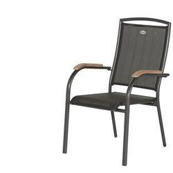 Hartman Krzesło ogrodowe w kolorze xerix/black grey | raffaelo | podłokietniki z drewna tekowego (62207210)