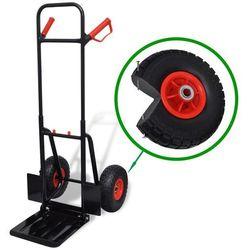 Vidaxl teleskopowy wózek magazynowy metalowy czarno czerwony