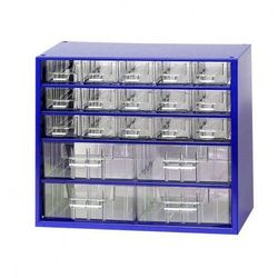 Metalowe szafki z szufladami, 19 szuflad